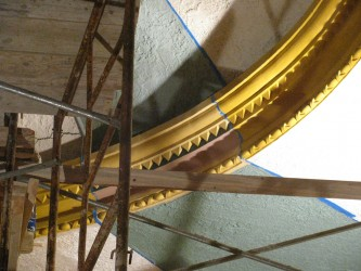 A close up of the edge of the dome as the details begin to emerge.