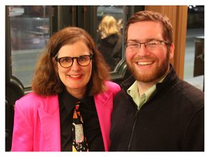 Paula Poundstone and audience member